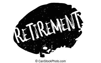 Retirement rubber stamp. Grunge design with dust scratches....