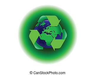 A global warming illustration with the earth surrounded by a...