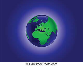 A vector illustration of the world