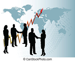 Business People Background - A group of business people in...
