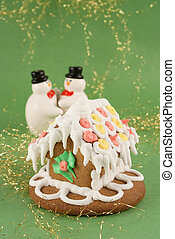 traditional christmas gingerbread house - traditional...