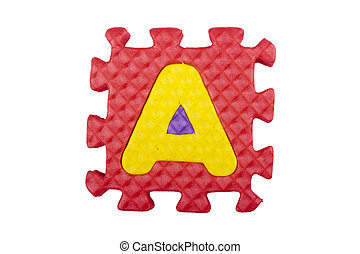 Latter A - The letter A is a set of alphabet made in the...