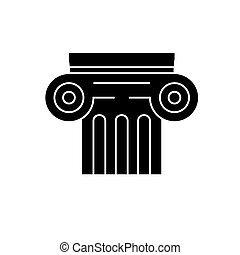history icon, vector illustration, black sign on isolated...