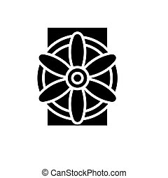 generator icon, vector illustration, black sign on isolated...