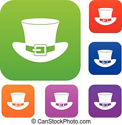 Top hat with buckle set color collection - Top hat with...