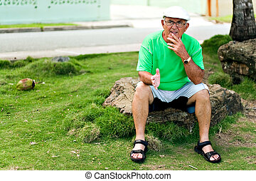 Hispanic Senior Man