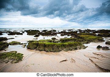 Ko Lanta Island, Thailand - Rocky beach Ko Lanta Island,...