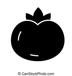 tomato icon, vector illustration, black sign on isolated...