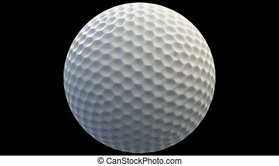 Loopable rotating golf ball with alpha channel