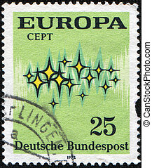Europa - GERMANY - CIRCA 1973: A stamp printed in Germany...