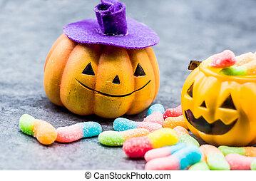 Halloween candy - Halloween pumpkin with sweet candy