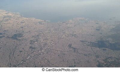 Aerial view of Athens, Greece - Aerial view of the...