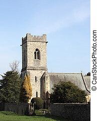 rural church - an ancient church in rural yorkshire england