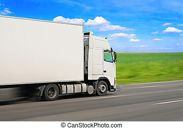 Truck - A Truck in high speed.