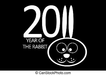 New year 2011 concept with rabbit