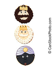 The three wise men, cookies for Christmas - Funny cookie for...