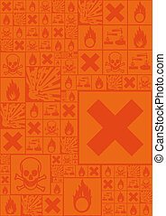 A set of hazardous symbols (vector illustration) - A set of...