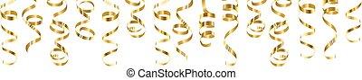 serpentine streamers border - Golden serpentine streamers...