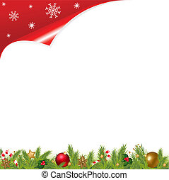 Christmas Background - Christmas And New Year Illustration...