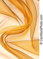 golden organza fabric wavy texture