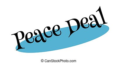 Peace Deal rubber stamp. Grunge design with dust scratches....