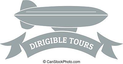 Trip dirigible logo, simple gray style - Trip dirigible...