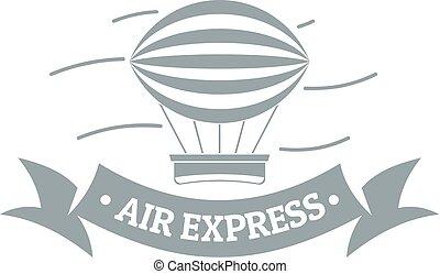 Vintage dirigible logo, simple gray style - Vintage...
