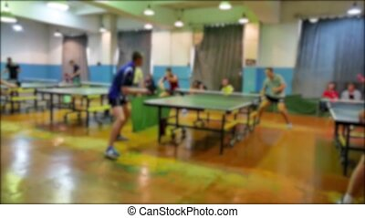 table tennis sport blurred slow motion video. beautiful...