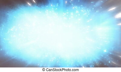 Blue gray abstract particle looping motion background - Blue...