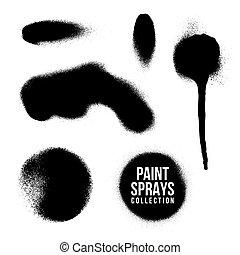 vector spray paint splatter texture - vector various shape...