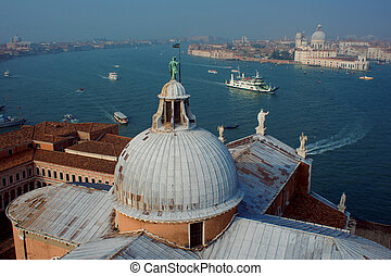 View from the bell tower San Giorgio Maggiore, Venice, Italy...