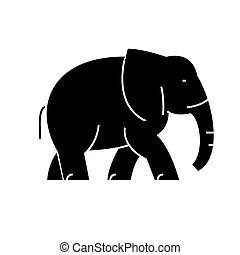 elephant icon, vector illustration, sign on isolated...