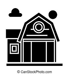 farm fron icon, vector illustration, sign on isolated...
