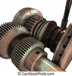 Gears and Cylinders 3D - Combination of some gears and...