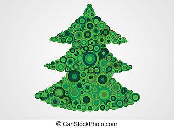 abstract vector christmas tree