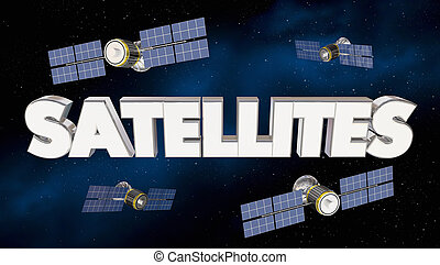 Satellites Network Signal Coverage Telecommunications 3d...