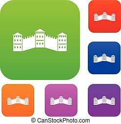 Great Wall of China set color collection - Great Wall of...