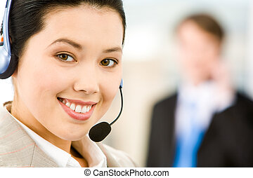 Customer Support Representative - Face of attractive...