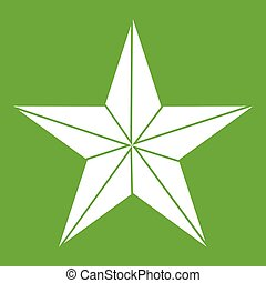 Star icon green - Star icon white isolated on green...