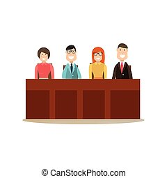 Law court people vector illustration in flat style - Vector...