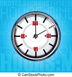 clock with texture background