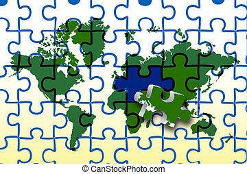 global map - illustration of global map on white background