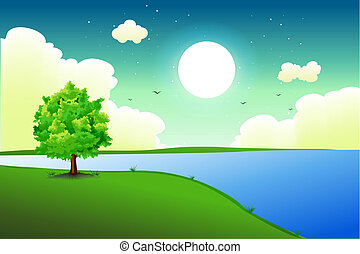 natural background - illustration of natural background on...
