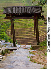 Village Entry Gate Rice Terraces Longji