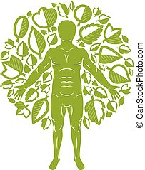 Vector illustration of human being standing on white...