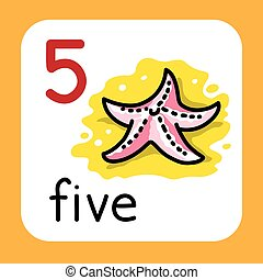 Card for learning to count from 1 to 10. Education -...