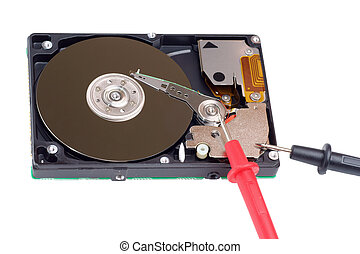 diagnostic and repair magnetic computer hard disk, mass...