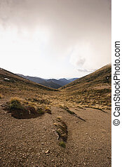 Armstrong Saddle - The view down a valley from Armstrong...