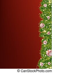 Thank You Card With A Christmas Balls EPS 8 vector file...