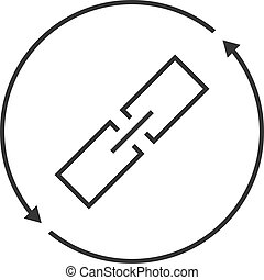 link exchange thin line icon. concept of chainlink, safety,...